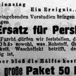 Ankündigung von Ohä als Konkurrenzprodukt zu Persil (Zeitung in der Zeitung, Dezember 1931)